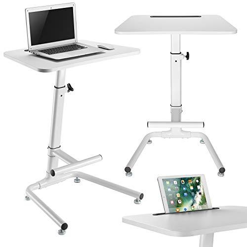 Maclean MC-849 Schreibtisch Tisch Laptopständer mit Fußstütze Notebooktisch Tablet höhenverstellbar max Höhe 120cm