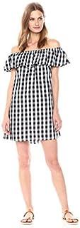 Glamorous Women's Off Shoulder Gingham Print Dress