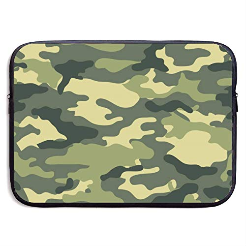 Laptop Case Bag Military Camo Woodland Camoflage 15 Inch Laptop Sleeve Bag Printing Neoprene Carrying Bag