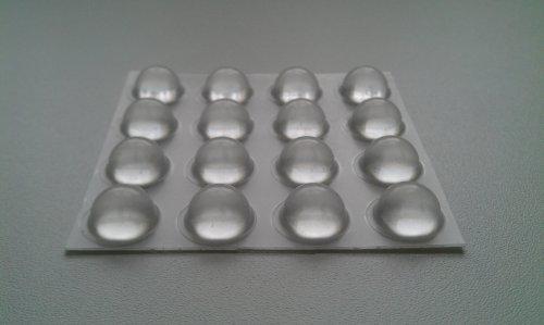 Möbel Puffer/Elastikpuffer transparent 16,0 mm x 7,9 mm, 2150
