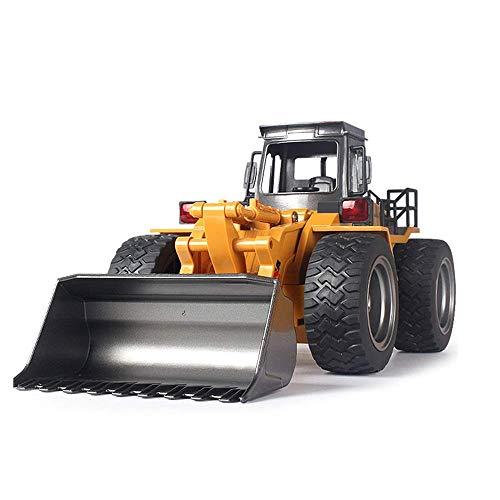 SXLCKJ Control Remoto Cargador de aleación Camión Excavadora Control Remoto Modelo de Tractor Canales Bulldozer Grúa Camión Aleación de plástico RC (automóvil Inteligente)
