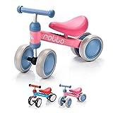 Bicicleta sin Pedales para Niños 1-5 años hasta 20 kg Ultraligera Mini Bici Bebés Infantil Andadores Bebé Equilibrio con Sillín y Manilar Regulable Ruedas bombeadas First Bike (Rollo Pink/Blue)