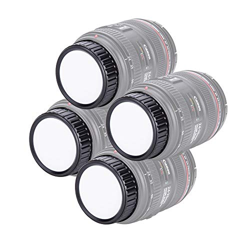 4 tapas de lente trasera para Canon EOS EF EF-S montura lentes...