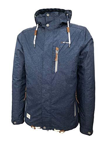 Dry Fashion Herren Funktionsjacke Husum meliert Regenjacke, Größe:5XL, Farbe:dunkelblau meliert