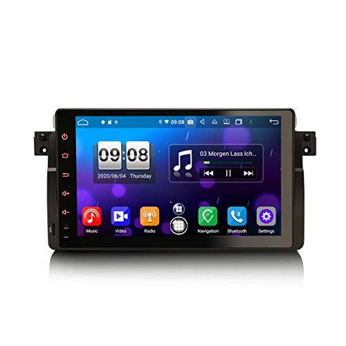 ERISIN Autoradio Android 10.0 da 9 pollici per BMW Serie 3 E46 M3 Rover 75 MG ZT Supporto GPS Sat Nav Carplay Android Auto DSP Bluetooth Wifi DAB + TPMS 8-core RAM 4GB + 64GB ROM