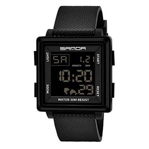TTLOVE Herren Digitale Armbanduhr Mit Armband Digital Quarz Uhr MilitäR Sportuhr Alarm/Timer Uhren Elektronische Wasserdicht Digitaluhren