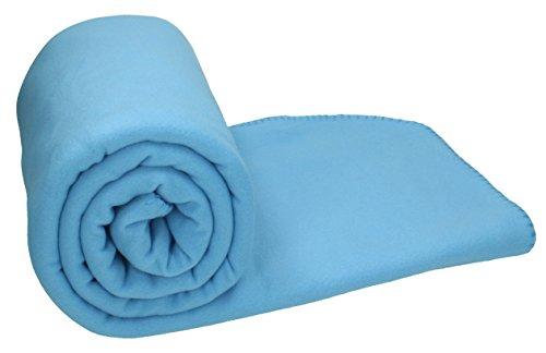 Betz Maxi Fleecedecke Kuscheldecke Farbe Blau Größe 140x190 cm Qualität 220 g/m²