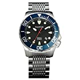 Pantor Seahorse 1000m Big Size 45mm Pro Dive Automatic Watch with Helium Valve Blue Rotating Bezel...