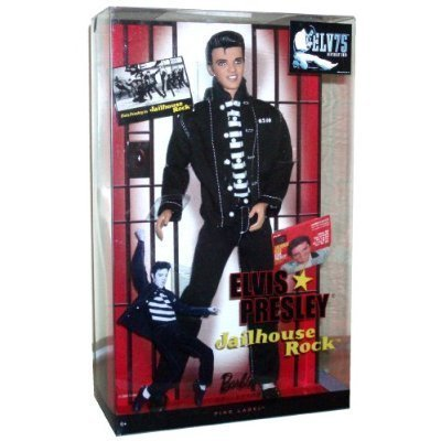 Mattel Year 2009 Barbie Collector 50th Anniversary Pink Label Series 12 Inch Doll - ELVIS PRESLEY in Jailhouse Rock (R4156) by Mattel