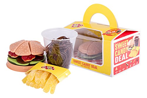 Fruchtgummi Happy Meal, Sweat Candy Deal, Burger, Pommes und Cola aus Fruchtgummi, die leckere Alternative für Fast Food, 280g