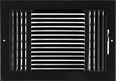 """12""""w X 8""""h 3-Way AIR Supply Grille - Vent Cover & Diffuser - Flat Stamped Face - [Outer Dimensions: 13.75""""w X 9.75""""h]"""
