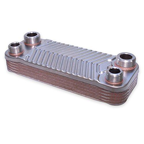 Hrale Edelstahl Wärmetauscher 10 Platten max 22 kW Plattenwärmetauscher Wärmetauscher