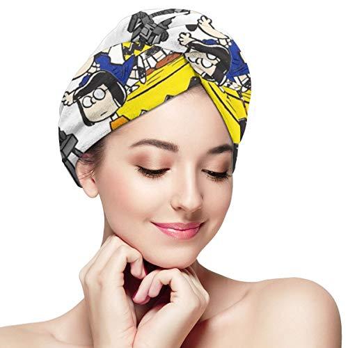 Hair Towel Wraps For Women Girl, Snoopy Microfiber Salon Towel, Anti Frizz Fast Dry Bath Loop Fasten Salon Dry Hair Hat Turban Twist