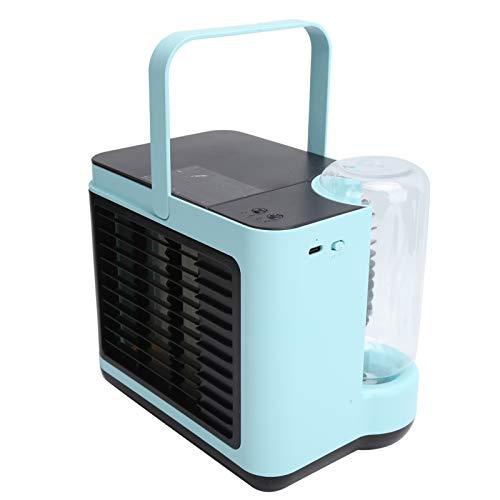 Ventilador De Refrigeración por Aire, Enfriador De Aire Portátil, Modo De Carga USB De 2 Velocidades con Batería De 2000 Mah para Dormitorio para Oficina En Casa(Azul)