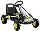 fit4form Kinder Go Kart Turbo Race Machine Tretauto Gokart ab 3 Jahren mit Luftreifen