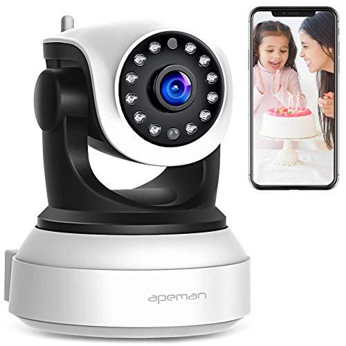 APEMAN WLAN IP Kamera, Überwachungskamera WiFi 720P, Haustier Kamera, Home und Baby Monitor mit Bewegungserkennung, Zwei-Wege-Audio, Unterstützt Fernalarm
