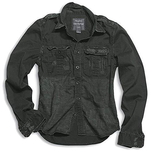 Surplus Raw Vintage Homme T-Shirt Militaire Look, Manches Longues, 100% Cotton - Multicolore - Beige, L