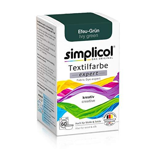 Simplicol Textilfarbe expert Efeu-Grün 1713: Farbe für kreatives, einfaches Färben in der Waschmaschine oder manuell