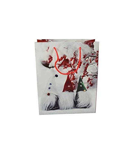 takestop® Shopper tas 26 x 32 x 12,5 cm Set 2 stuks geschenktasjes Glitter Maat M geschenk Kerstmis Fantasie Casual Sun_6021