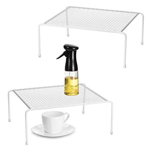 Kitchen Cupboard Organiser-2 Pack Metal Wire Storage Shelf Insert Rack for Kitchen Countertop, Pantry, Cabinet, Fridge