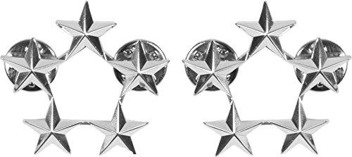 normani US Rangabzeichen aus Metall mit Nadelverschluss in verschiedenen Ausführungen Farbe General of The Army