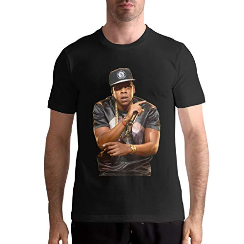 Jay-Z Casual Man Tops Short Sleeve Tshirts M Black