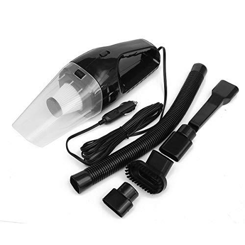 4000 PA Suction Portable Car Handheld Vacuum Dirt Cleaner Wet & Dry 12V 120W High Power Automotive Vehicle Auto Vac (Black)
