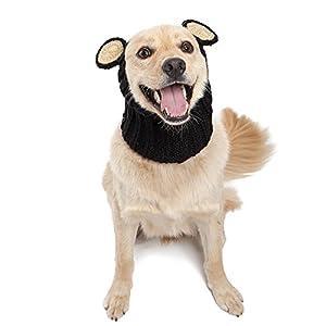 Zoo Snoods Black Bear Dog Costume – Neck and Ear Warmer Hood for Pets (Medium)