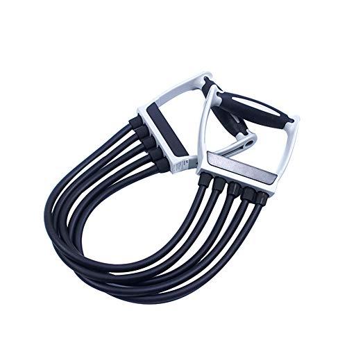 ZYY-Home curtain Pecho Dispositivo de Entrenamiento Muscular, Tirar ampliador del Pecho extraíble con Cinco Tubos Multifuncional, para el Entrenamiento en casa,Negro