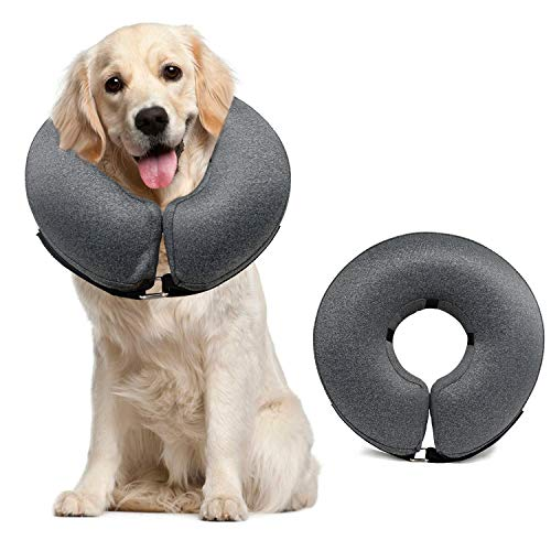 MIDOG Dog Cones for Large Dogs,Cone for Dogs After Surgery,Soft Protective Recovery Donut Collar for Dogs to Prevent from Touching Stitches, Wounds and Rashes, Does Not Block Vision E-Collar.
