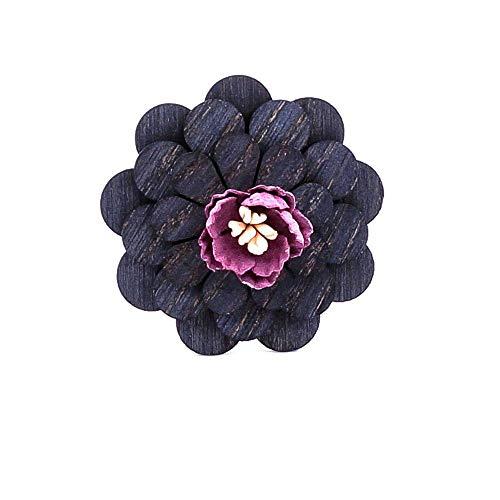 Uteruik Broche de madera ramillete para traje de esmoquin chaqueta, 1 pieza (#B)