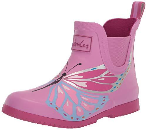 Joules Wellibob, Botas de Agua Niños, Rosa (Pink Butterfly Pnkbttrfly), 25 EU