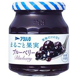 アヲハタ まるごと果実 ブルーベリー 250g瓶×6個入×(2ケース)