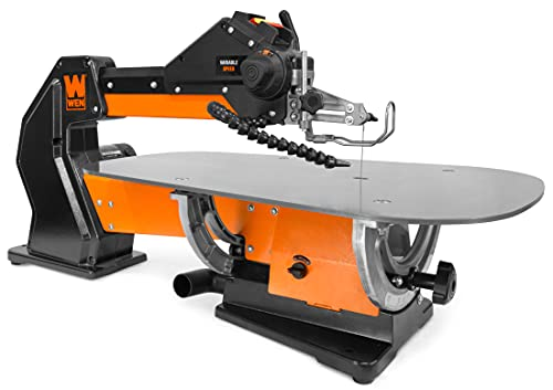 WEN LL2156 21-Inch 1.6-Amp Variable Speed Parallel Arm Scroll Saw with Extra-Large Dual-Bevel Steel Table