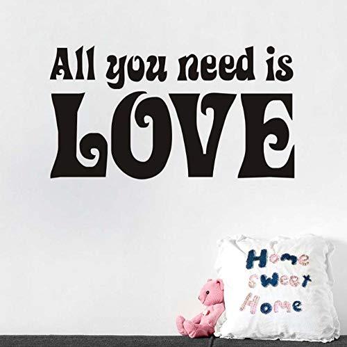 Muursticker huisdecoratie voor woonkamer muurstickers Vinyl Art muurstickers lijmenAlles wat je nodig hebt is liefde 31x51cm