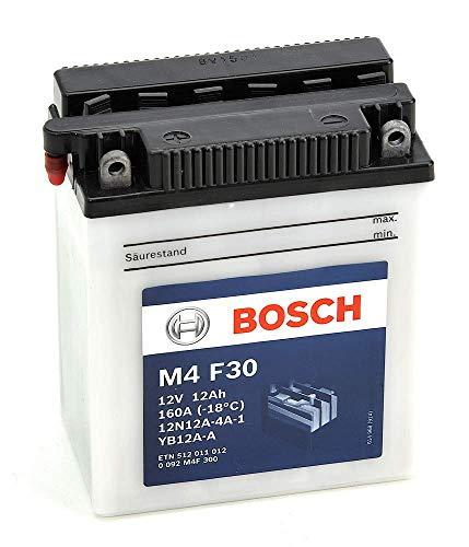 Bosch M4F30 Batería motocicleta 12N12A-4A-1 / YB12A-A - 12V Plomo 12A/h-120A