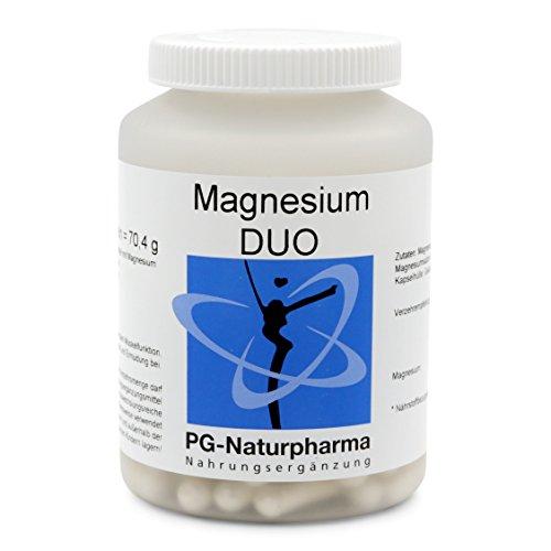 Magnesium Kapseln, 120 Kapseln mit je 150mg reines Magnesium (DUO: Magnesiumcitrat & Magnesiumoxid), 400mg hochwertiges Tri-Magnesiumdicitrat - für Muskeln und Nerven