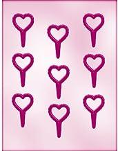 قالب لصنع حلوى الشوكولاتة على شكل قلب 90-P1019 من CK Products، 22.86 سم × 15.24 سم، شفاف