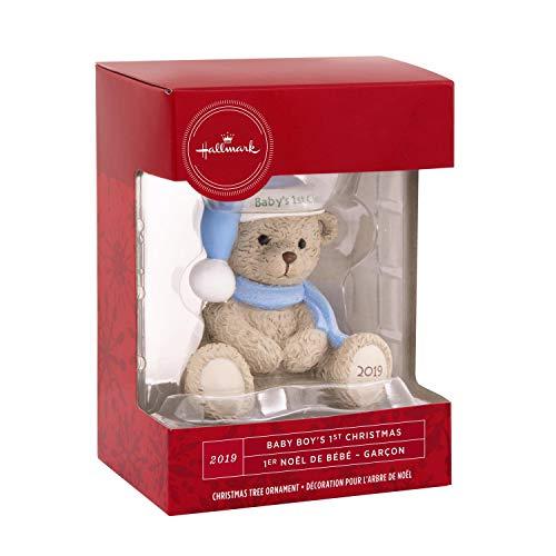 Hallmark Babys 1st Baby Boys First Christmas Ornament Blue Teddy Bear 2019