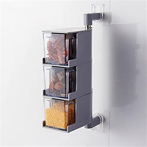 2/3 / 4/4 / 4/4/4/4 / 4Layers Creativo condimento rotante scatola di condimento alimentare condimento scatola di condimento tipo di cassetto condimento piatto cucina cucina contenitore