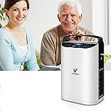 KKTECT Generador de pulso de oxígeno (3 kg) Viene con bateria Uso continuo durante 3 horas. Fácil de transportar para viajes y uso doméstico
