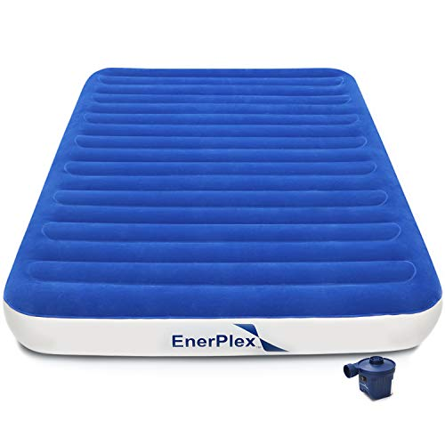 EnerPlex Never-Leak Luxury Queen Air Mattress with High Speed Wireless Rechargeable Pump Queen...