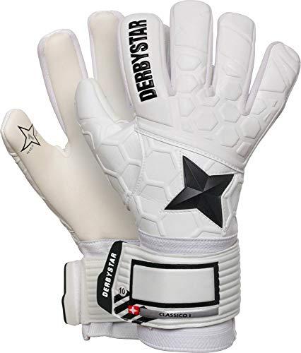 Derbystar Kinder Classico I Handschuhe, Weiss schwarz, 7