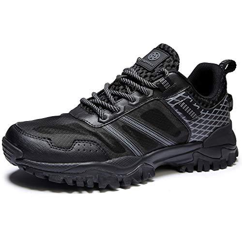 Hsyooes Trekking und Wanderschuhe für Herren Damen Outdoor rutschfest Schuhe Sport Sneakers Leichte Kletterschuhe, Schwarz-b, (Herstellergröße: 45/44.5 EU)