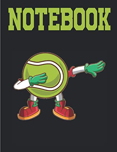 NOTEBOOK: Dabbing Tennis Ball |Graph Paper Composition Notebook, Grid Paper Notebook, Quad Ruled, 120 Sheets (Large, 8.5 x 11) daily graph or Maths Notebook