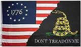 Betsy Ross 1776 Gadsden Black Don't Tread On...