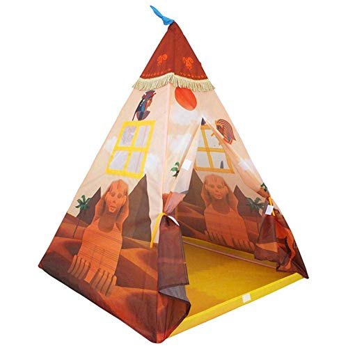 Kids Play Tents Teepee Foldable Pretend Play House Parent-child Puzzle Toy for Toddler Girl and Boy Indoor And Outdoor Games 100x130CM (Color : -)