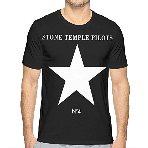 Stone Temple Perdida Camisetas Hombre y Juventud Moda Algod¨®n Cool Tops Camisas Camiseta de Manga Corta Camiseta Grande
