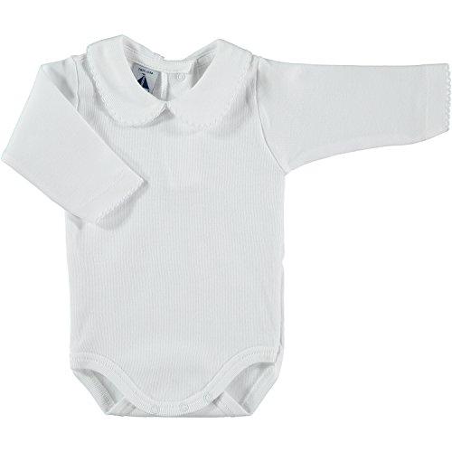 BABIDU Body Cuello Algodon, Blanco, 3 Meses Bebe-Unisex