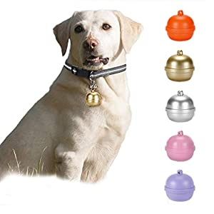 WFGF Pet GPS Tracker, 3G Dog GPS Tracker and Pet Finder GPS Dog Collar, Locator Waterproof, Bell Design Tracking Device for Dogs, Cats, Pets Activity Monitor(Color Random)